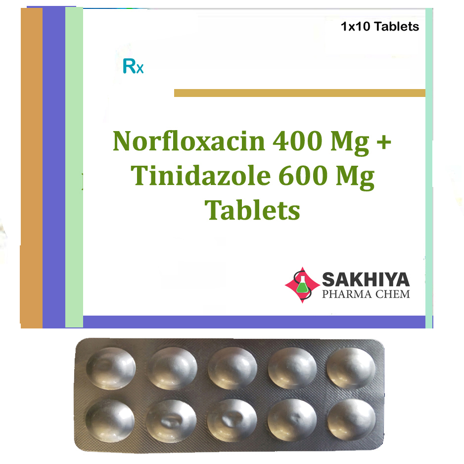 Norfloxacin 400mg + Tinidazole 600mg Tablets