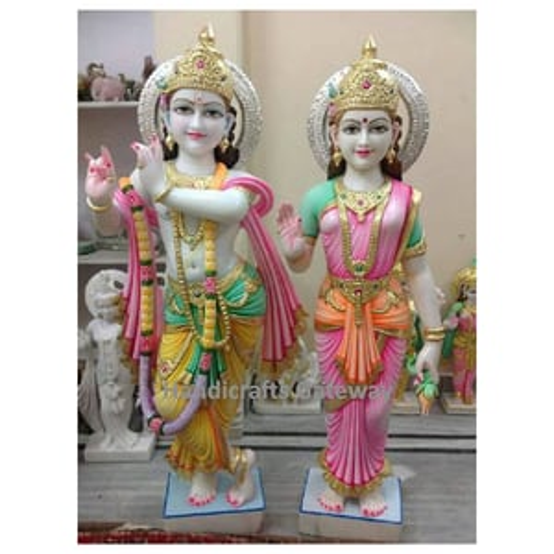 Beautiful Stone Radha Krishna Sculpture