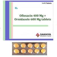 Ofloxacin 400mg + Ornidazole 600mg Tablets