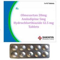 Olmesartan 20mg + Amlodipine 5mg + Hydrochlorothiazide 12.5mg Tablets