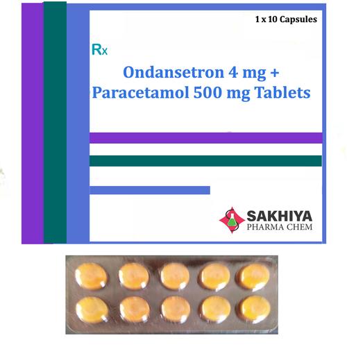 Ondansetron 4mg + Paracetamol 500mg Tablets