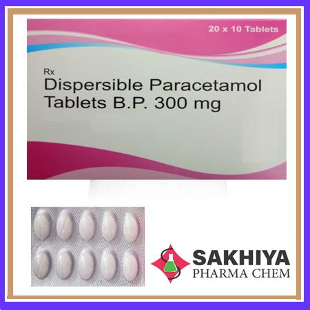 Paracetamol Dispersible BP 300mg Tablets