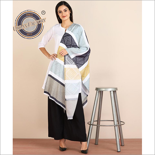 Cotton Silk Striped Stole