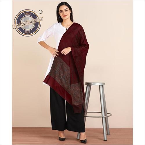 Pashmina Fine Wool Kani Pallah Stole For Women