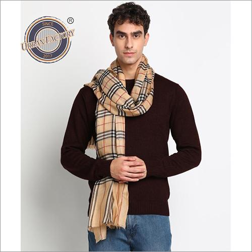 Pashmina Finewool Check Design Stoles Scarf Casual Shawls Wraps Men Multi-Coloured