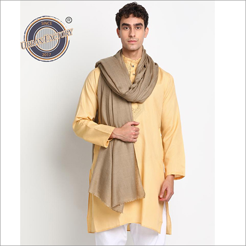 Pashmina Fine Wool Check Stole For Men