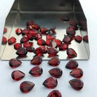 4x6mm Mozambique Red Garnet Faceted Pear Loose Gemstones