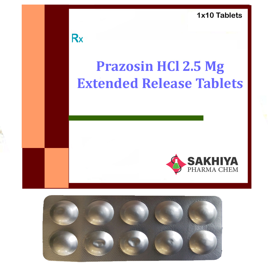 Prazosin Hcl 2.5mg Extended Release Tablets