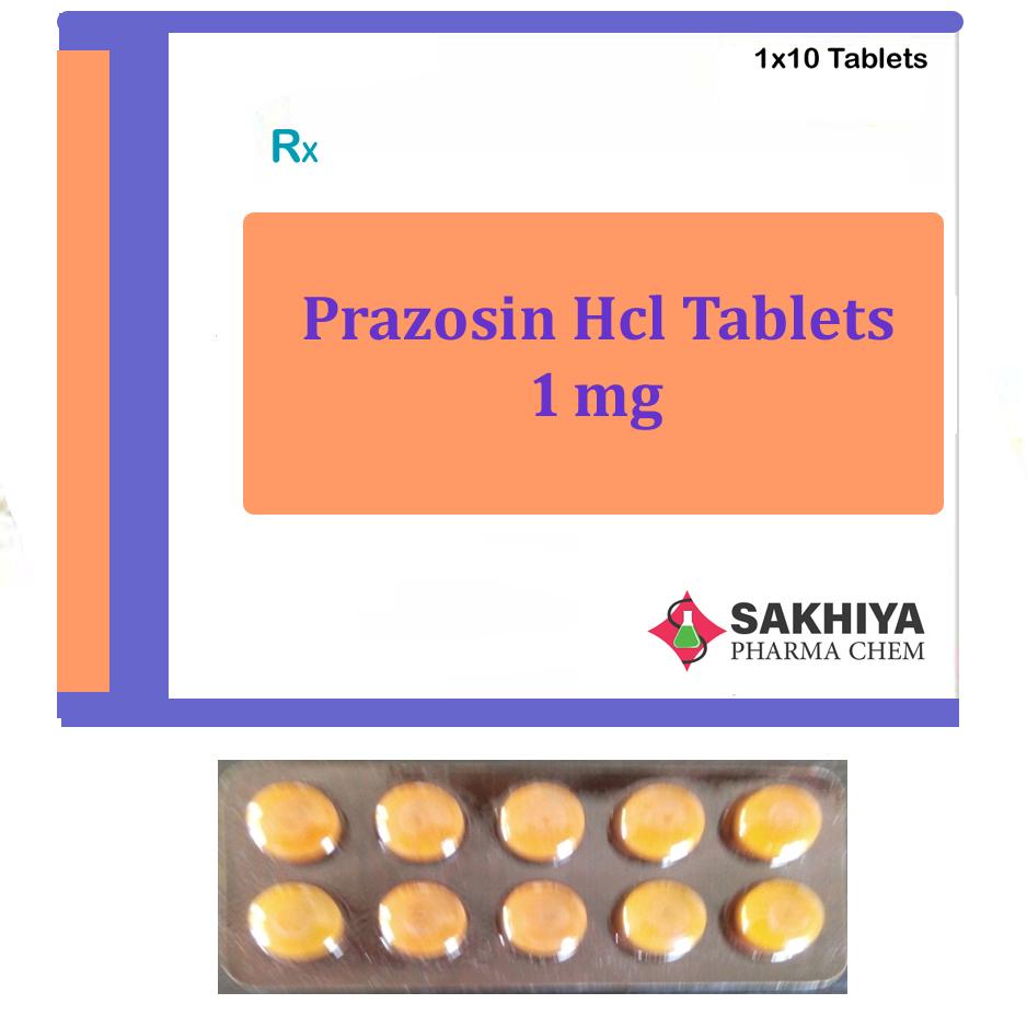 Prazosin Hcl 1mg Tablets