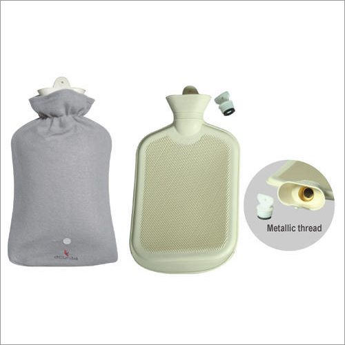 Hot Water Bag Premium Both Side Ribbed Beige Colour With Cover