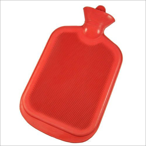 Hot Water Bag Economy Both Side Ribbed Red Colour