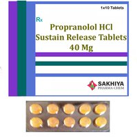 Propranolol Hcl 40mg Sustain Release Tablets