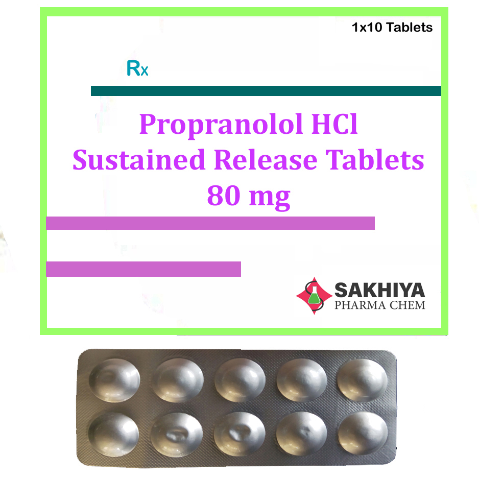 Propranolol Hcl 80mg Sustain Release Tablets