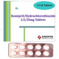 Ramipril 2.5mg + Hydrochlorothiazide 25mg Tablets