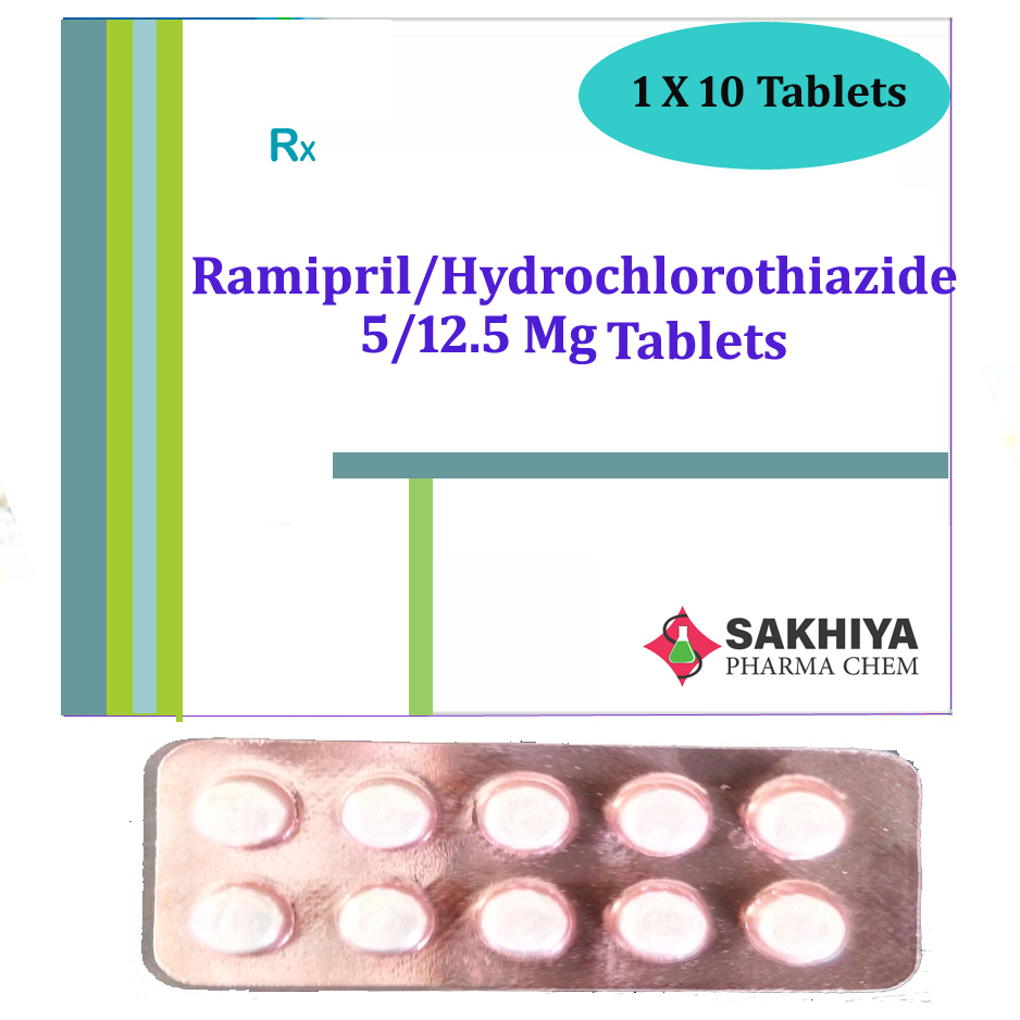 Ramipril 5mg + Hydrochlorothiazide 12.5mg Tablets