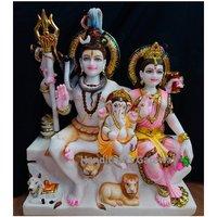Handmade Solid Marble Shankar Parvati Sculpture