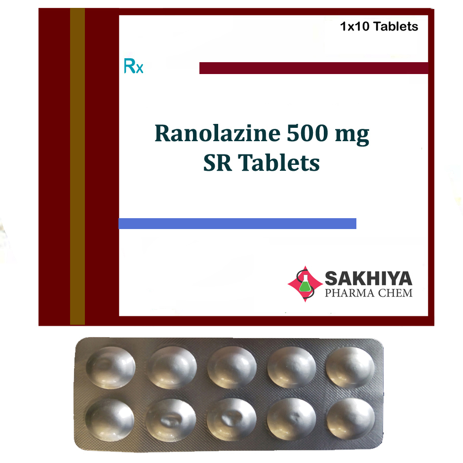 Ranolazine 500mg SR Tablets