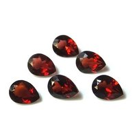 7x10mm Mozambique Red Garnet Faceted Pear Loose Gemstones