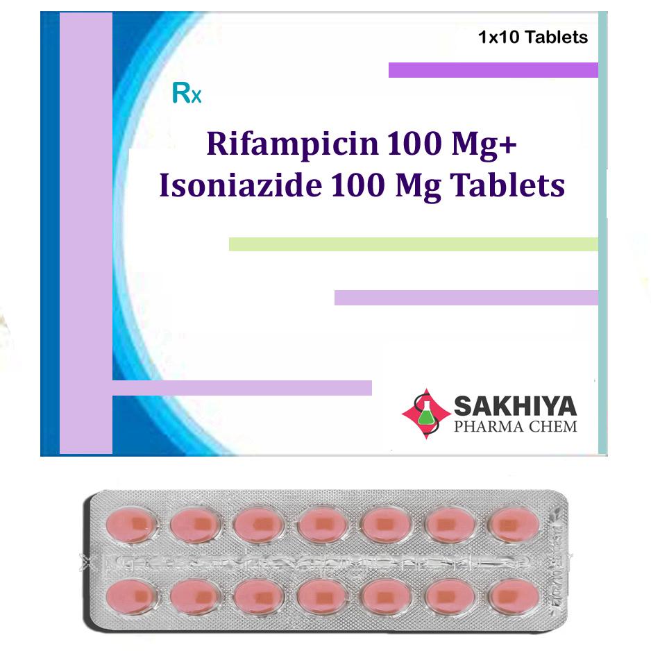 Rifampicin 100mg+ Isoniazide 100mg Tablets