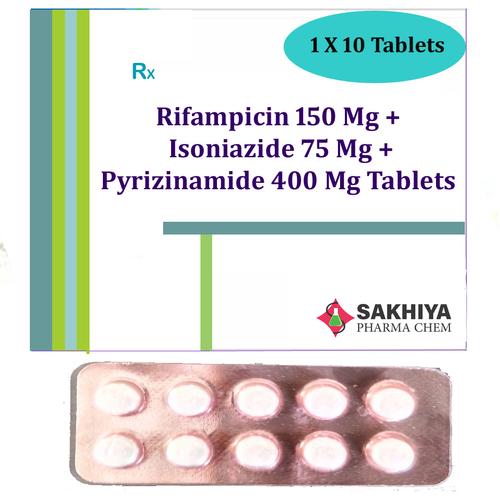 Rifampicin 150mg + Isoniazide 75mg + Pyrazinamide 400mg Tablets