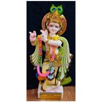 Beautiful Marble Krishna Statue For Temple