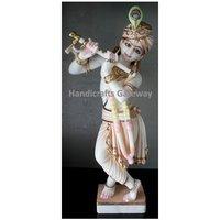 Hand Made Marble Lord Krishna Moorti
