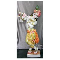 Handicrafts Gateway Pure Marble Krishna Sculpture