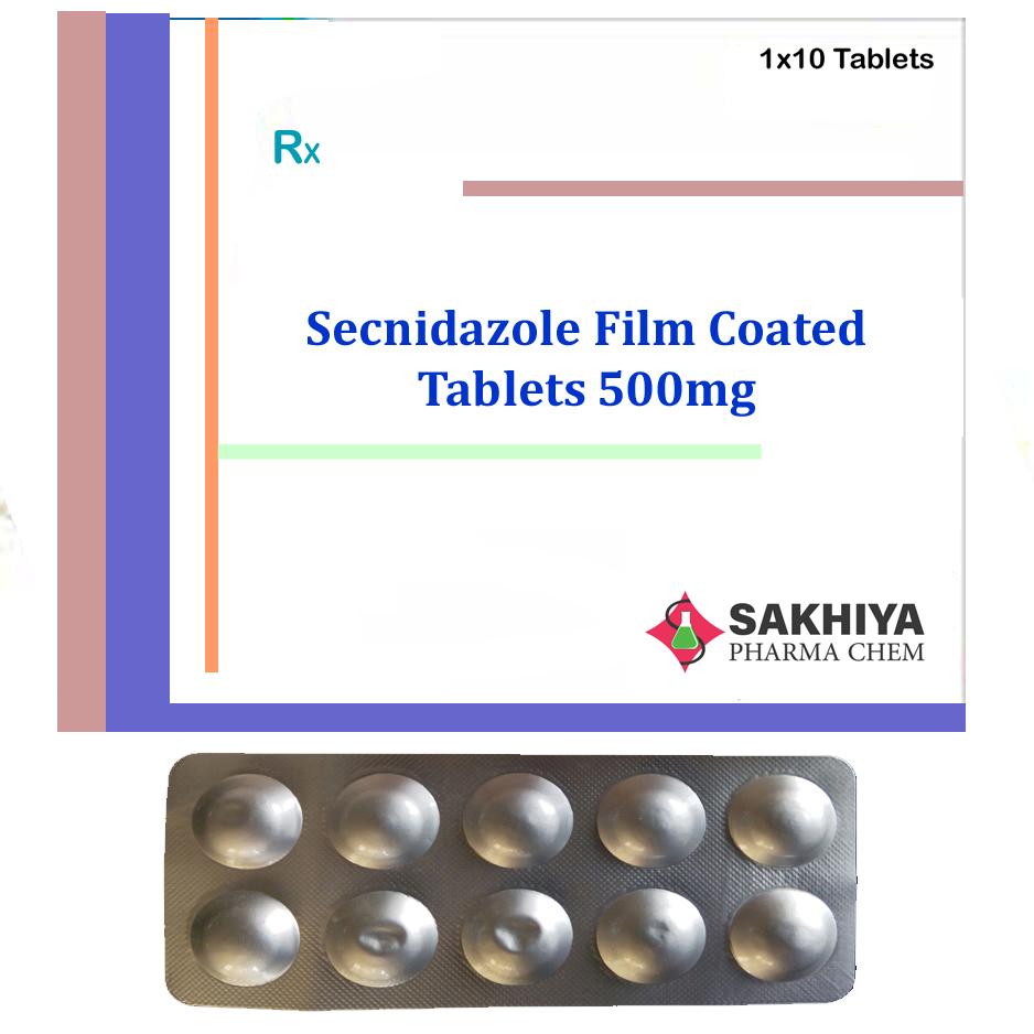 Secnidazole Film Coated  500mg Tablets
