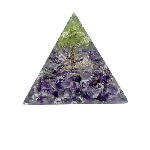 Prayosha Crystals Stone Orgonite Pyramid
