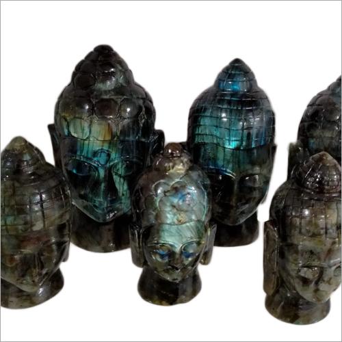 Prayosha Crystals Buddha Head Statues
