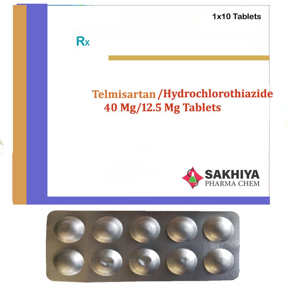 Telmisartan 40mg + Hydrochlorothiazide 12.5mg Tablets