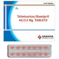 Telmisartan 40mg + Ramipril 2.5mg Tablets