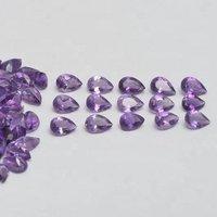 4x6mm Brazil Amethyst Faceted Pear Loose Gemstones
