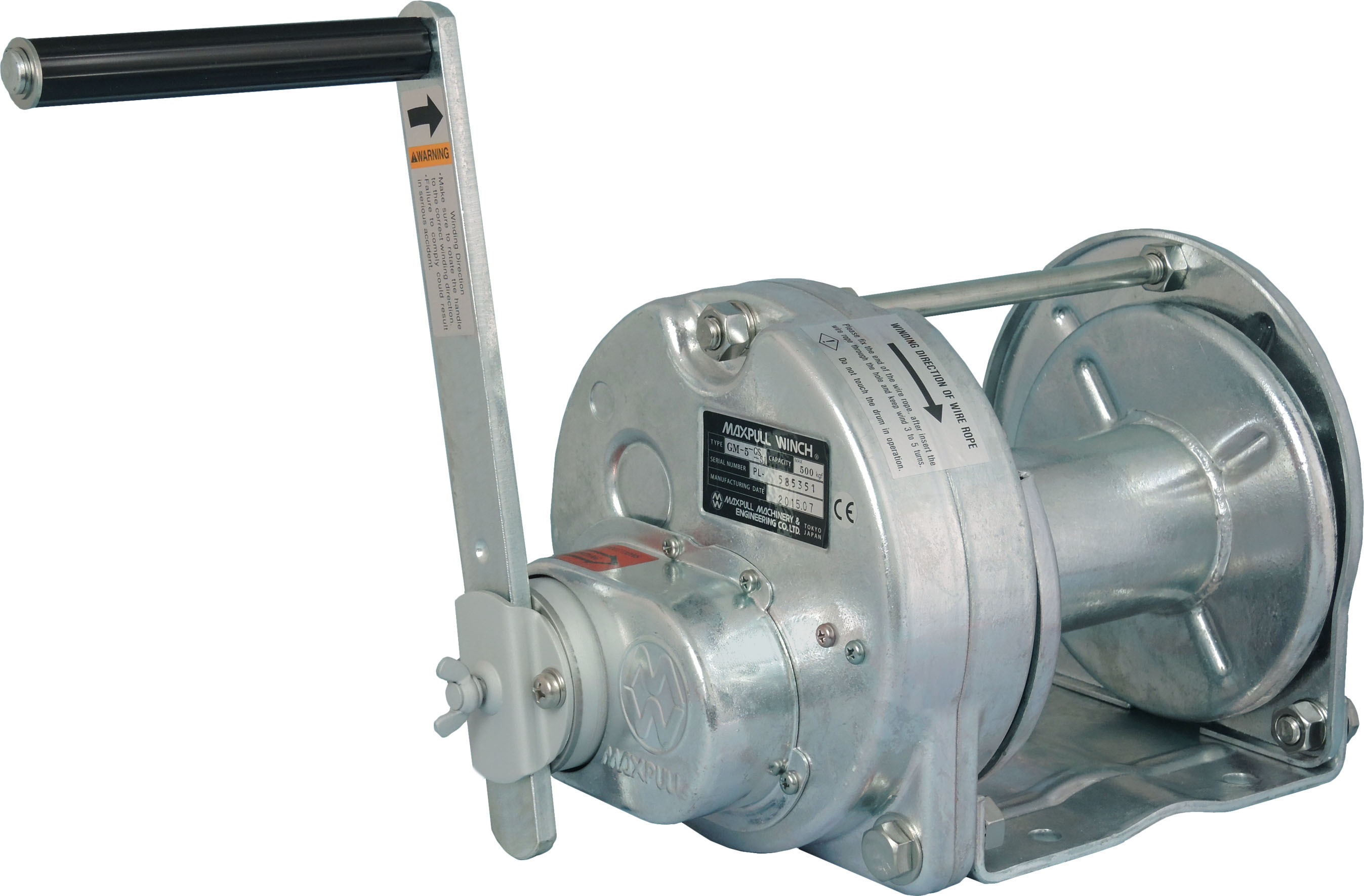 Steel Hot Dip Galvanizing Rotating Hand Winches Model GS Type-SI