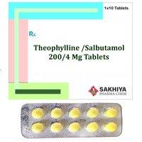 Theophylline 200mg + Salbutamol 4mg Tablets