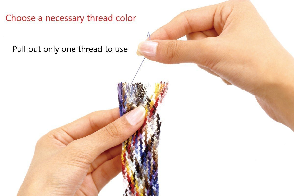 30 Colors Button & Craft Sewing Thread Kit