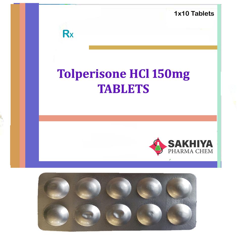 Tolperisone HCl 150mg Tablets