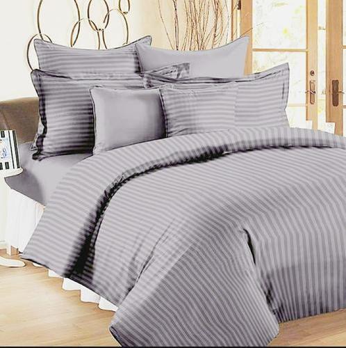 Satin Stripes Printed Bed Sheets