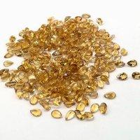 3x5mm Citrine Faceted Pear Loose Gemstones