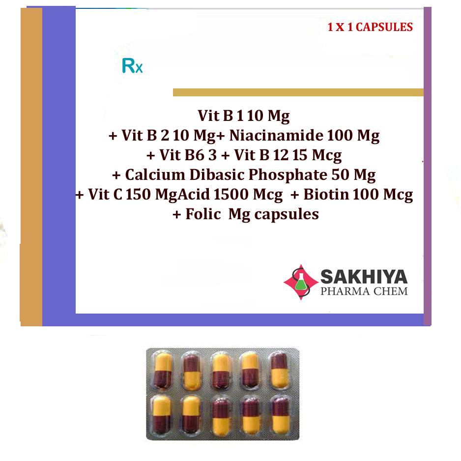 Vit B1 10mg+ Vit B2 10mg+ Niacinamide 100mg+ Vit B6 3mg Tablets