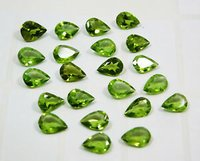 3x5mm Peridot Faceted Pear Loose Gemstones