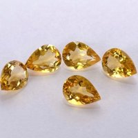 6x9mm Citrine Faceted Pear Loose Gemstones