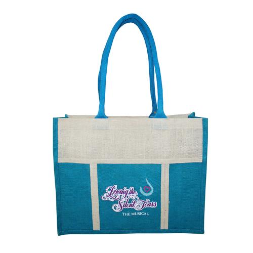 Jute Promotional Bag With Front Pocket