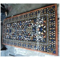 Handmade Marble Inlaid Dining Table Top For Home Decorative