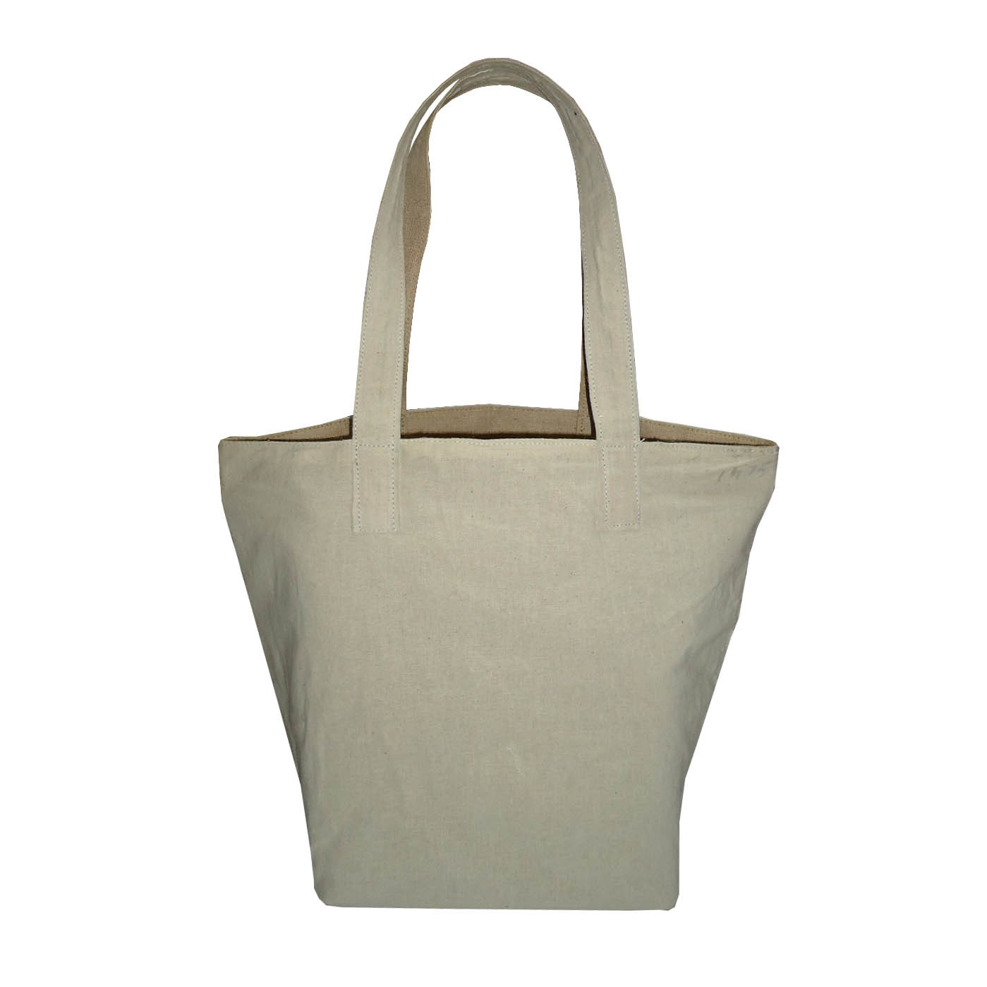 Natural Juco Reversible Cotton Tote Bag