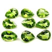 5x8mm Peridot Faceted Pear Loose Gemstones