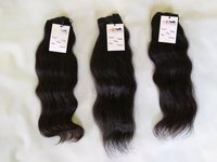 Natural Black wavy/straight/Curly Double Machine Weft Single donor Indian Temple Virgin Hair Extensions