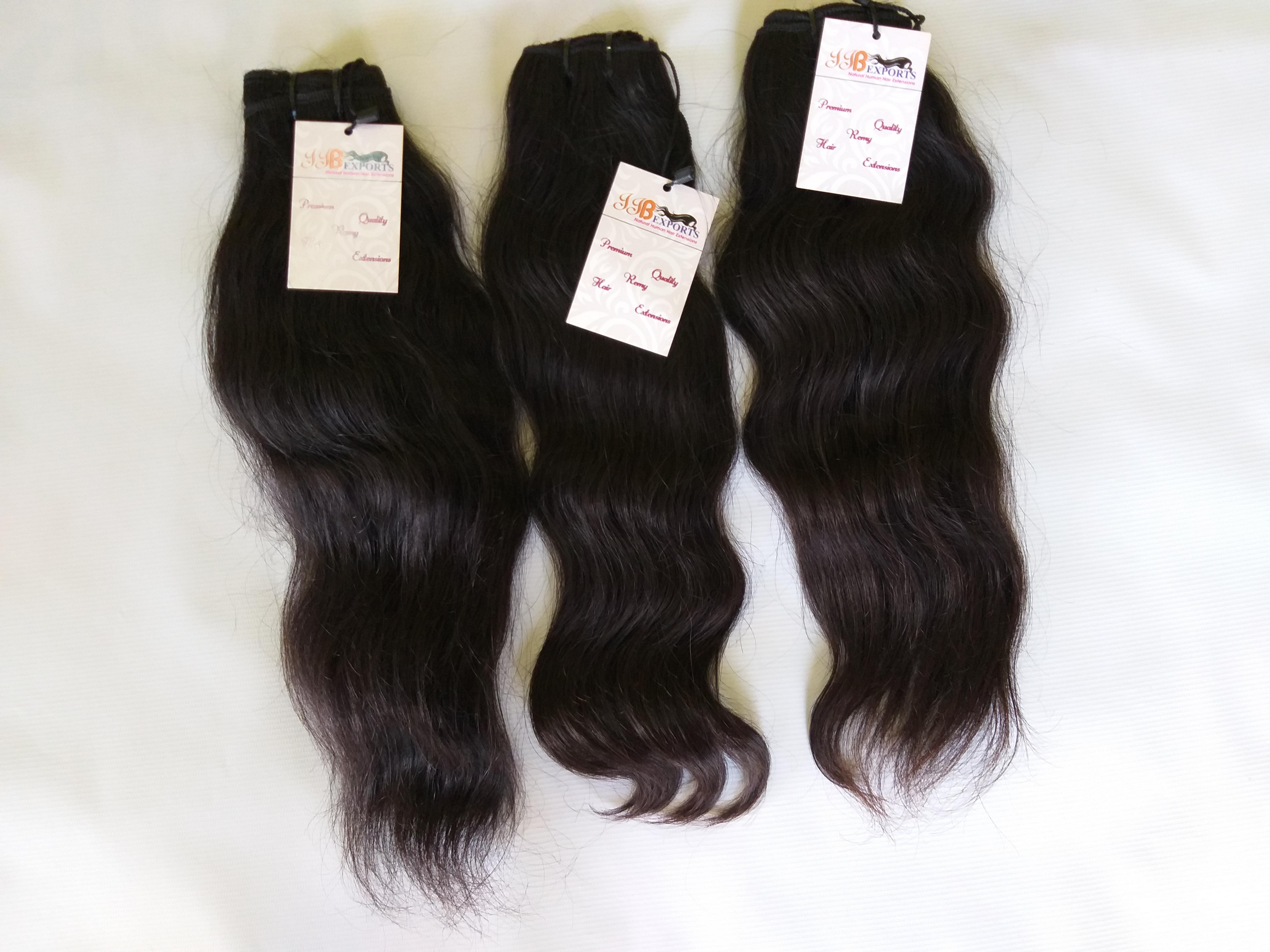 Indian Best Virgin Unprocessed Mink Raw Hair Wavy Machine Made Double Wefted Bundles