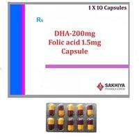 DHA-200mg + Folic Acid 1.5mg Capsule