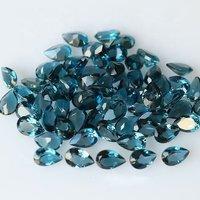 4x6mm London Blue Topaz Faceted Pear Loose Gemstones